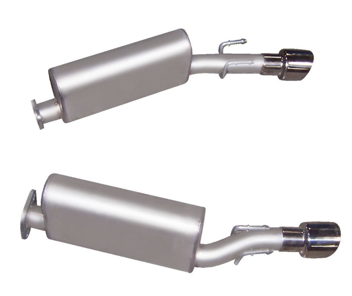 Gibson Performance Axle Back Dual Exhaust System Stainless - 618000