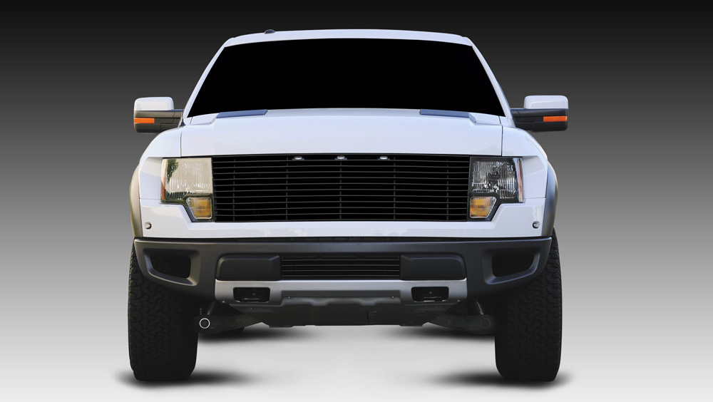 Raptor F-150 SVT Grille 10-14 Ford Raptor F-150 SVT Mild Steel Powdercoat Black Laser Series T-REX Grilles - 6215661