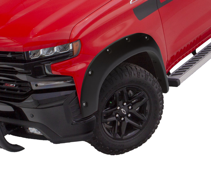 BUSHWACKER Pocket Style Fender Flares 2pc Front Chevrolet Silverado 1500 2019+ - 40101-02