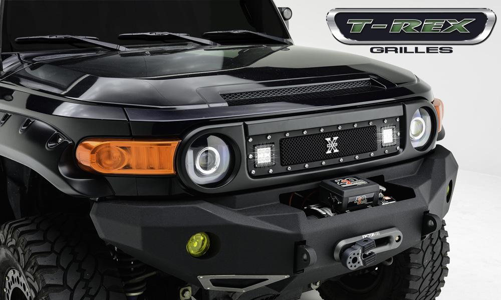 FJ Cruiser Grille 07-14 Toyota FJ Cruiser Mild Steel Powdercoat Black 1 Piece Torch Series T-REX Grilles - 6319321