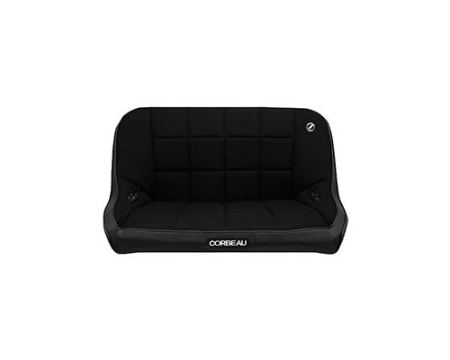 Corbeau 42 Inch Baja Bench Suspension Seat In Black Vinyl