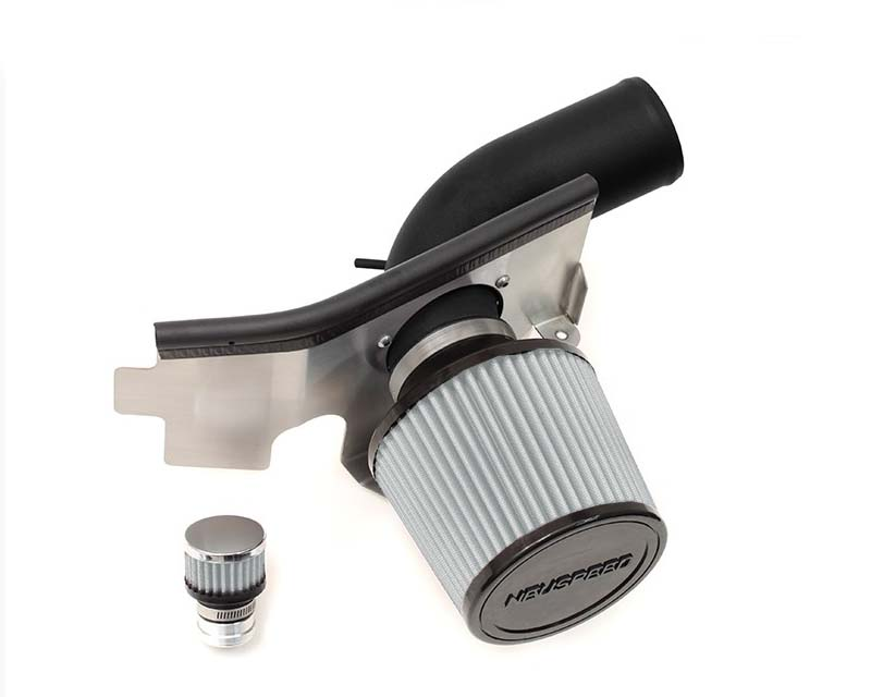 Image of Neuspeed Black Wrinkle P-Flo Air Intake Kit with Dry Filter Volkswagen Jetta GLI 1.8L TSI with pump 13-14
