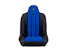 Image of Corbeau Baja SS Suspension Seat in Black Vinyl Blue Cloth 65405