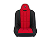 Image of Corbeau Baja SS Suspension Seat in Black Vinyl Red Cloth 65407