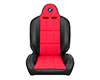 Image of Corbeau Baja RS Suspension Seat in Black Vinyl Red Cloth 66407