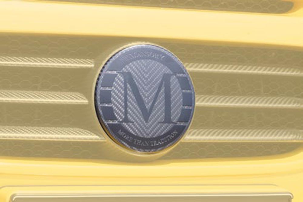 66m 102 355 Mansory Matte Carbon Fiber Badge For Grille Mask