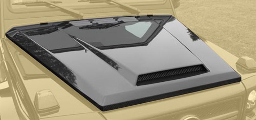 66m 210 011 Mansory Matte Carbon Fiber Carbon Hood With Air Outlet