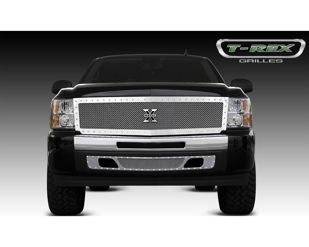 2007-2013 Silverado 1500 X-Metal Grille, Polished, 1 Pc, Replacement, Chrome Studs - PN #6711110 - 6711110