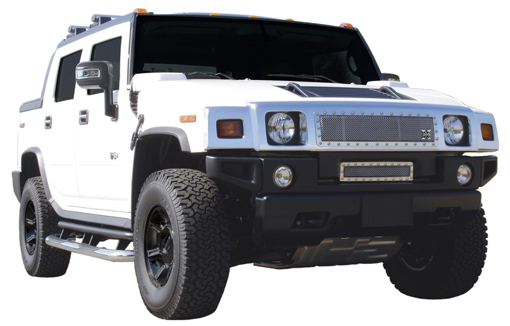 H2 Grille 03-07 Hummer H2 Stainless Polished X Metal Series T-REX Grilles - 6712900