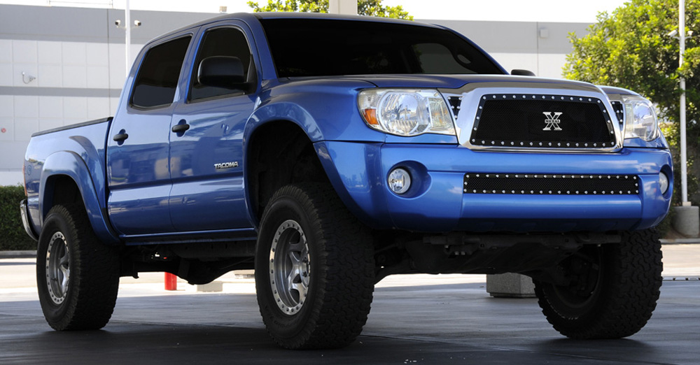 Tacoma Grille 05-10 Toyota Tacoma Mild Steel Powdercoat Black X Metal Series T-REX Grilles - 6718951