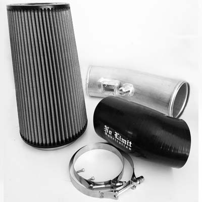 No Limit Fabrication 6.7 Cold Air Intake 2011-2016 Ford Super Duty Power Stroke Raw Dry Filter for Mod Turbo - 67CAIRDM
