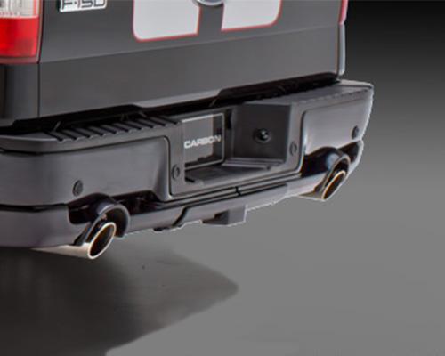 3dCarbon Rear Lower Skirt Trailer Hitch Cover Dual Exhaust Ford F-150 06-08 - 691540-1