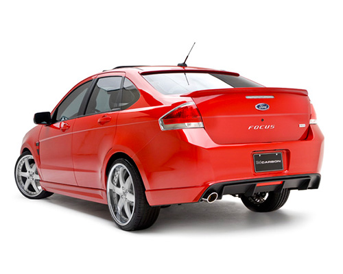 Image of 3dCarbon Rear Lower Ford Focus Sporty Ses 4 Door 10-11