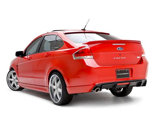 3dCarbon Rear Lower Skirt Ford Focus Sporty Ses 4 Door 10-11 - 691593-SES