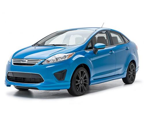 3dcarbon 4 piece body kit ford fiesta sedan 11 13. Black Bedroom Furniture Sets. Home Design Ideas