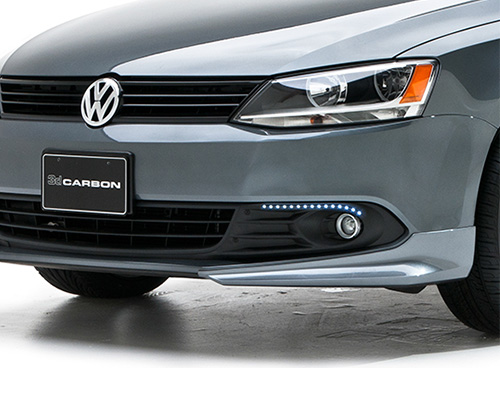 Image of 3dCarbon Kit Of Bezels With Linear Led Day Lights Volkswagen Jetta 11-13