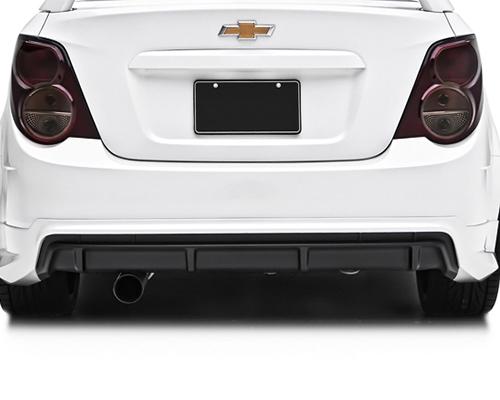 Image of 3dCarbon Rear Lower Diffuser Chevrolet Sonic Sedan 2012-13