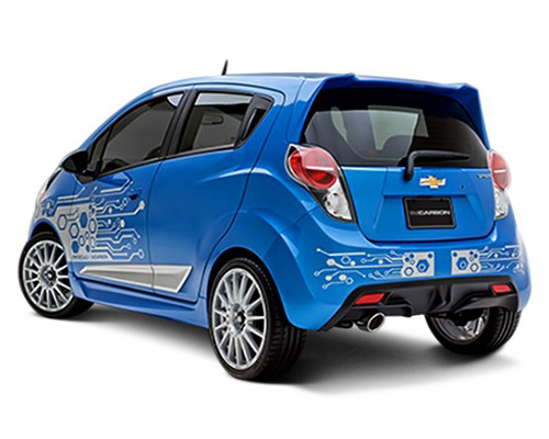 Image of 3dCarbon Rear Lower Diffuser Chevrolet Spark 2013