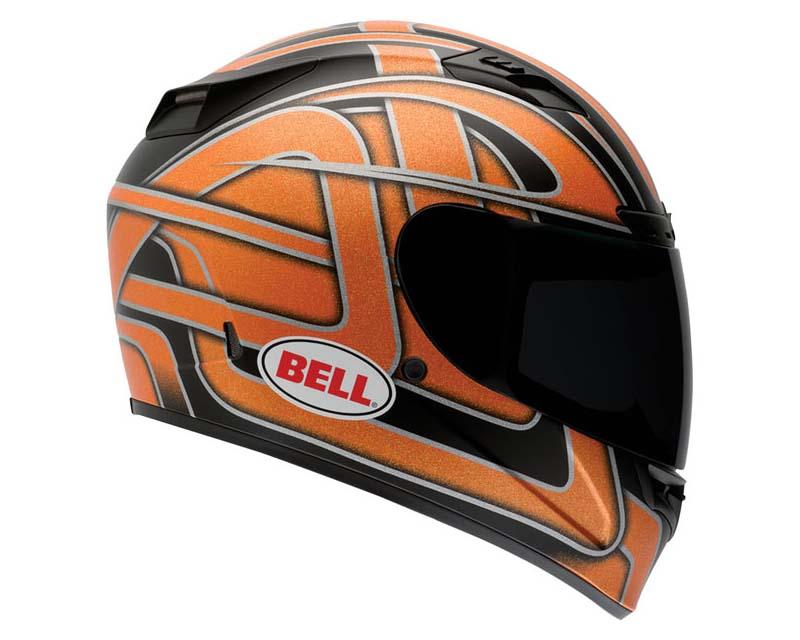 Image of Bell Racing Vortex Damage Orange Flake Helmet 2XL 62-63