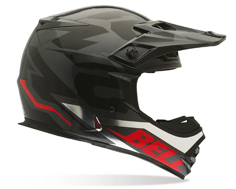 Image of Bell Racing MX-2 54 Black Chrome Helmet 2XL 62-63