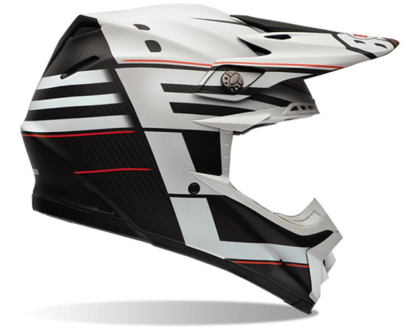 Bell Racing Moto-9 Carbon Blocked Black Helmet 62-63 | 2XL - Bell-7060812