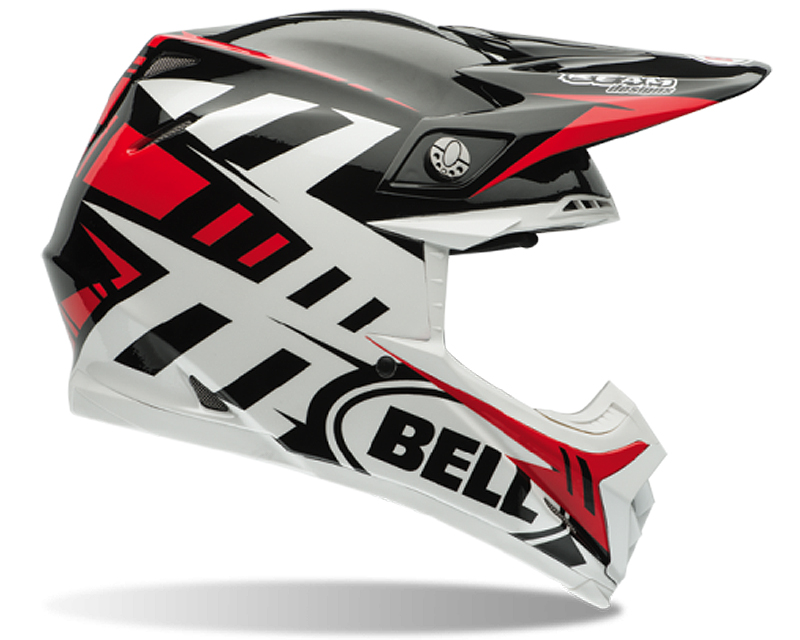Bell Racing Moto-9 Carbon Syndrome Red Helmet 62-63 | 2XL - Bell-7060836
