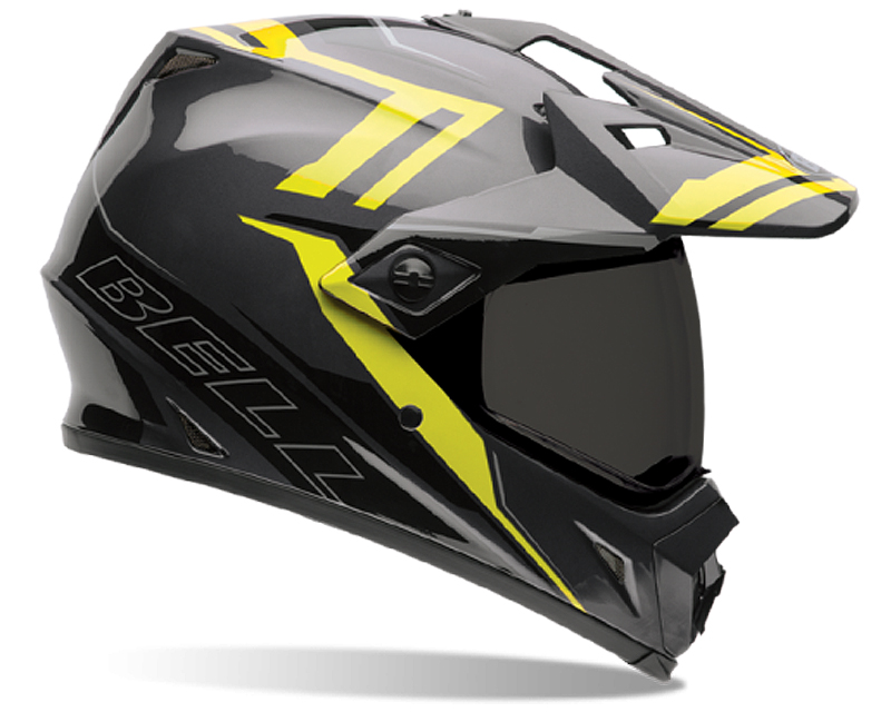 Bell Racing MX-9 Adventure Barricade Hi-Vis Helmet 55-56 | SM - Bell-7061347