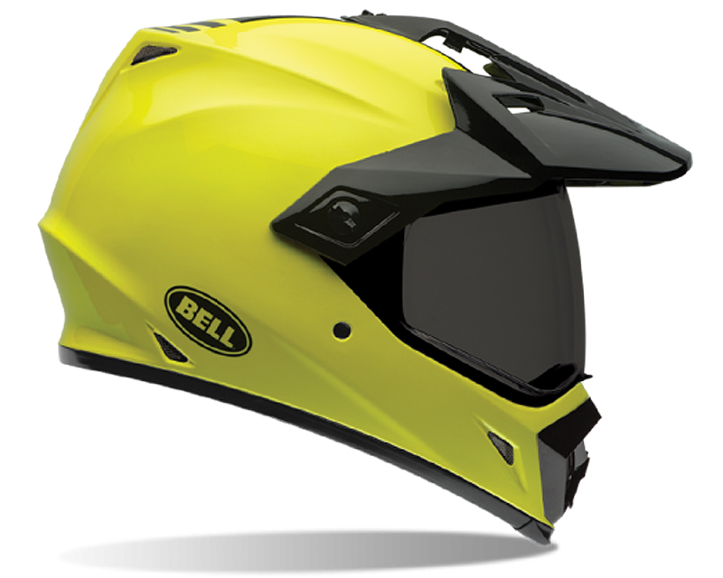 Bell Racing MX-9 Adventure Solid Hi-Vis Helmet 55-56 | SM - Bell-7061419