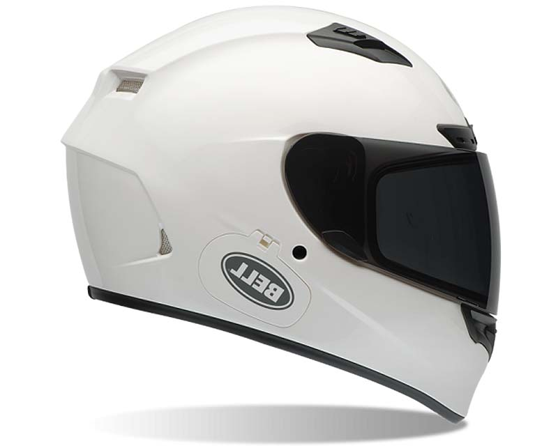 Bell Racing Qualifier DLX Solid White Helmet 54-55 | XS