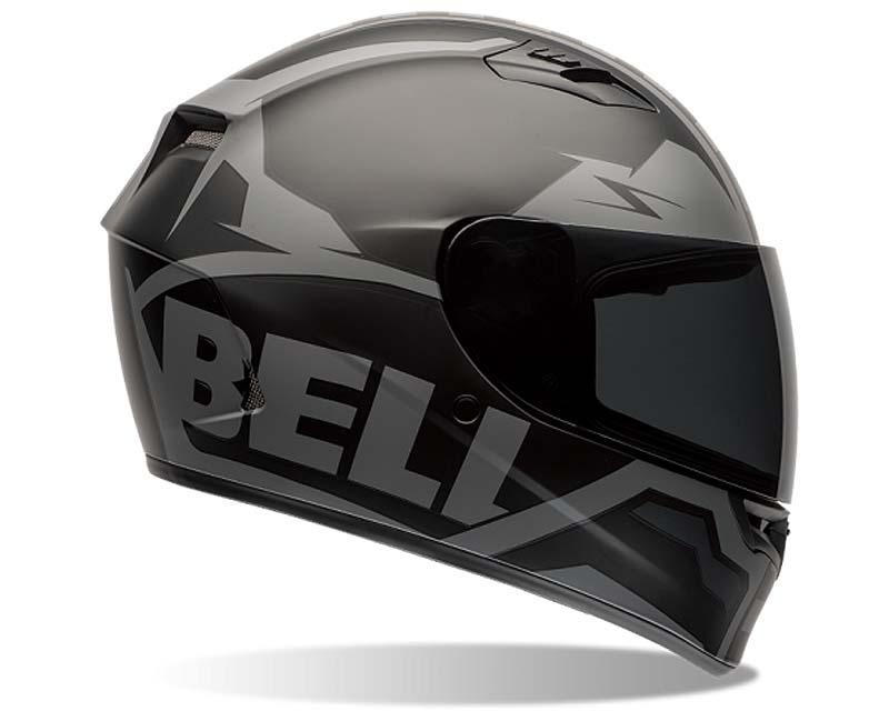 Bell Racing Qualifier Momemtum Black Helmet 55-56 | SM - Bell-7062056