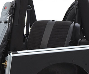 XRC Seat Cover Rear 97-02 Wrangler TJ Black/Black Center Smittybilt - 756115