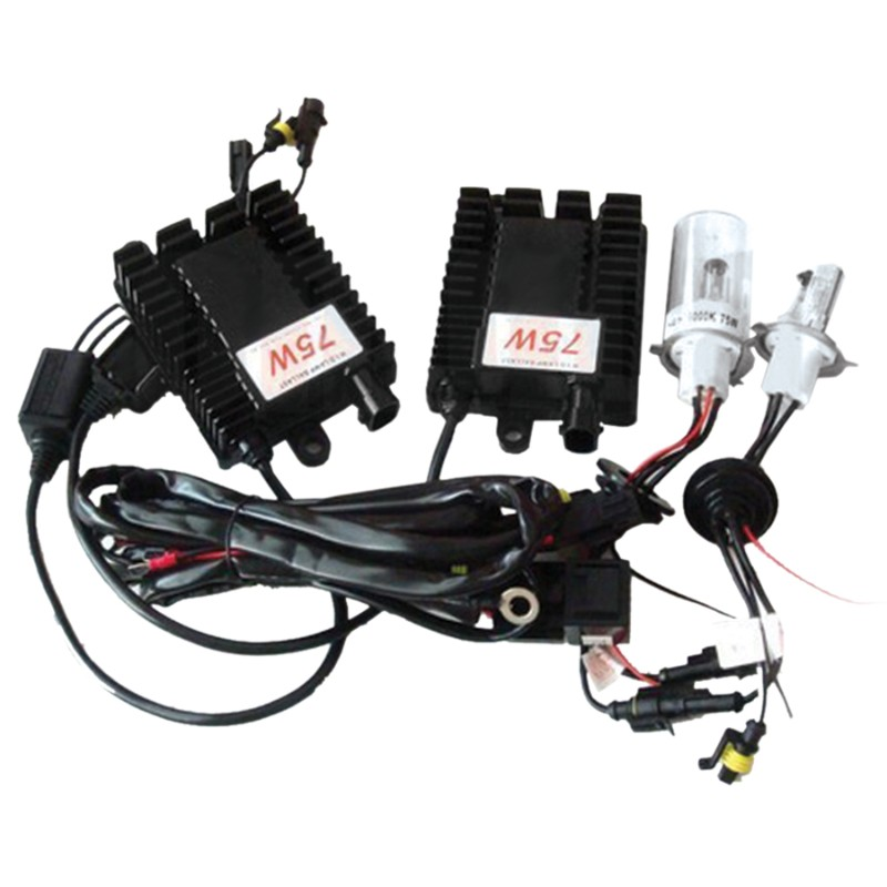 Race Sport Lighting H4 6K 75W HID Kit - H4-6K-75W