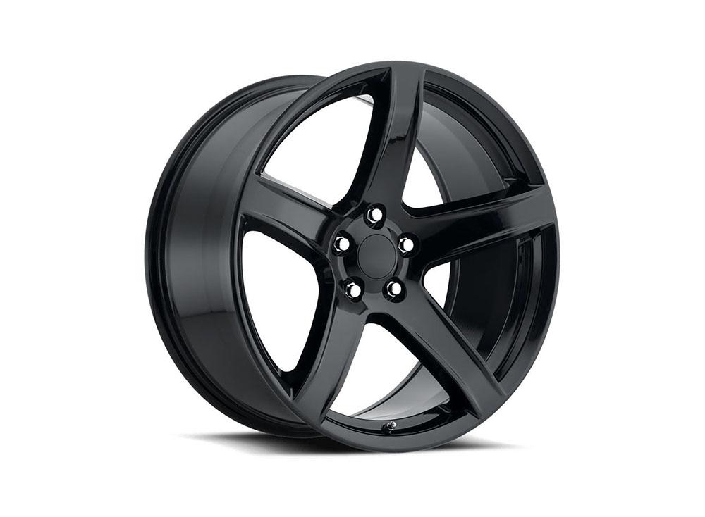 Factory Reproduction Series 77 Wheels 20x11 5x115 +22 HB 71.5 Hellcat HC2 Gloss Black w/Cap - 77011221502