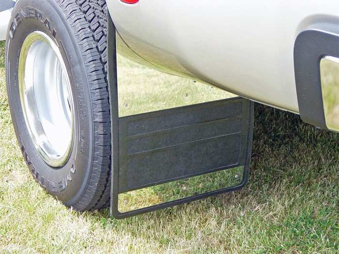 Dually Mud Flaps >> Mud Flaps Classic Dually Rubber Mudflaps Stainless Steel Inserts 94 02 Dodge Ram 3500 19 X 24 Owens Products