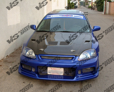 VIS Racing Carbon Fiber EVO Hood Honda Accord 90-93 - 90HDACC2DEV-010C