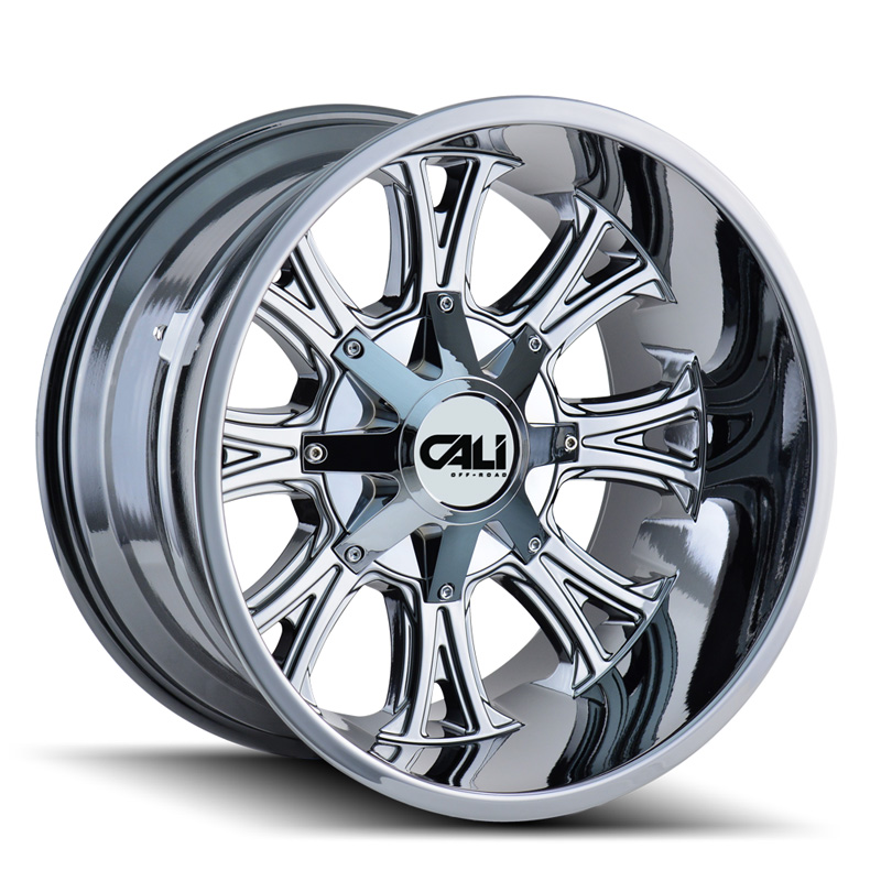 Cali Off-Road Americana 9101 Chrome 20x10 8x165.1 | 8x170 -25mm 130.8mm Wheel - 9101-2176C
