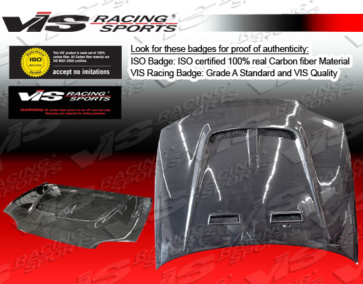 VIS Racing Carbon Fiber Monster 2 Hood Honda Civic 92-95 - 92HDCVC2DMON2-010C