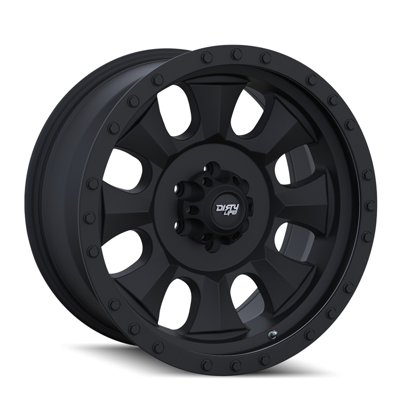 Dirty Life Dirty Ironman Matte Black | Black Beadlock 18X9 5x139.7 0mm 108mm Wheel - 9300-8985MBN