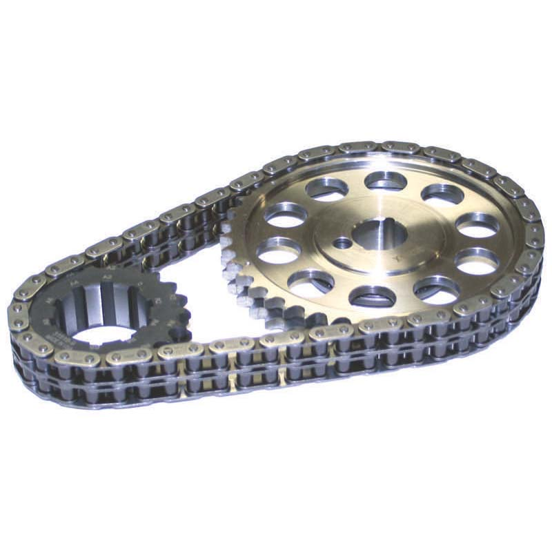 Double Roller Timing Chain Set; Ford 289 - 302 / 351W 9-Keyway Howards Cams 94310 - 94310