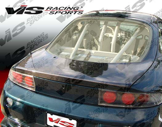 VIS Racing Carbon Fiber OEM Hatch Trunk Lid Mitsubishi Eclipse 95-99 - 95MTECL2DOE-020C