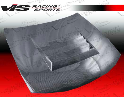 VIS Racing Carbon Fiber Drift Hood Nissan 240SX 97-98 - 97NS2402DDFT-010C