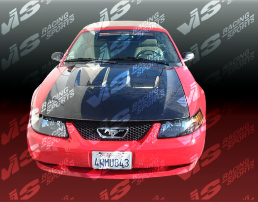 VIS Racing Carbon Fiber Heat Extractor Hood Ford Mustang 99-04