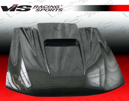 VIS Racing Carbon Fiber ZD Hood Ford Mustang 99-04 - 99FDMUS2DZD-010C