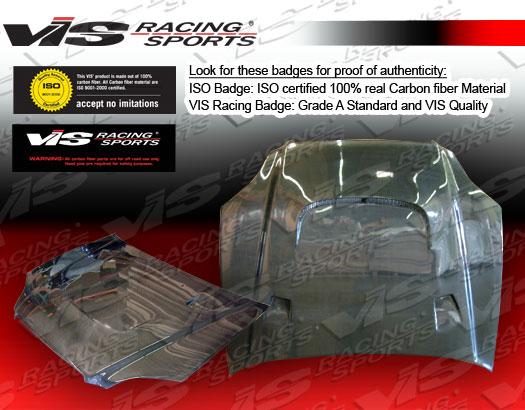 VIS Racing Carbon Fiber JS 2 Hood Honda Civic 99-00 - 99HDCVC2DJS2-010C