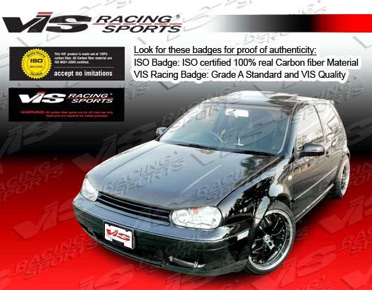 VIS Racing Carbon Fiber Boser Hood Volkswagen Jetta 99-05 - 99VWJET4DBOS-010C