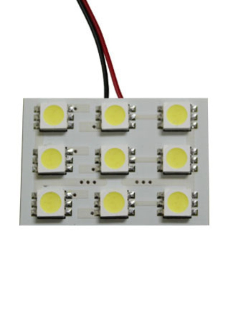 Race Sport Lighting Amber 9 Chip 5050 LED Dome Panel  Individual - RS-5050-9DOME-A