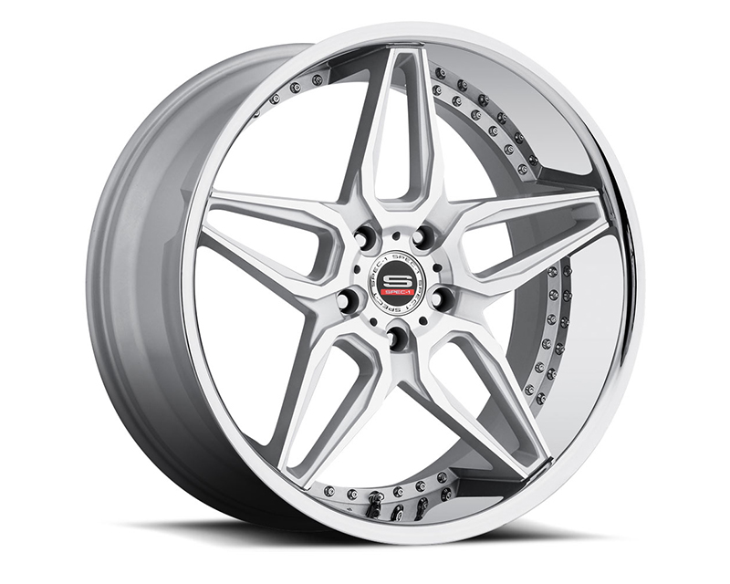 Spec-1 Wheels SL-301 Silver Machined Wheel 22X9 Blank 15mm - A0076-2290BL+15SM