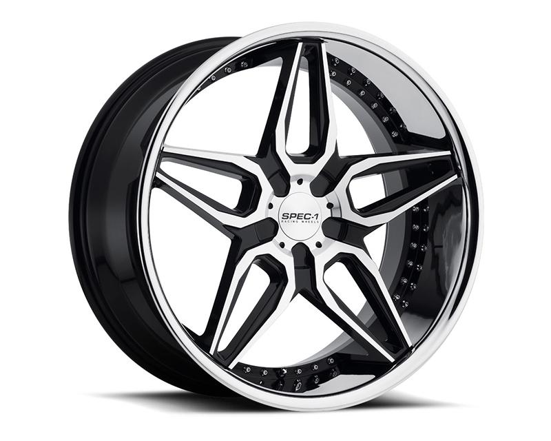 Spec-1 Wheels SL-301 Gloss Black Machined Wheel 22X9 Blank 15mm - A0076-229BL+15GBM
