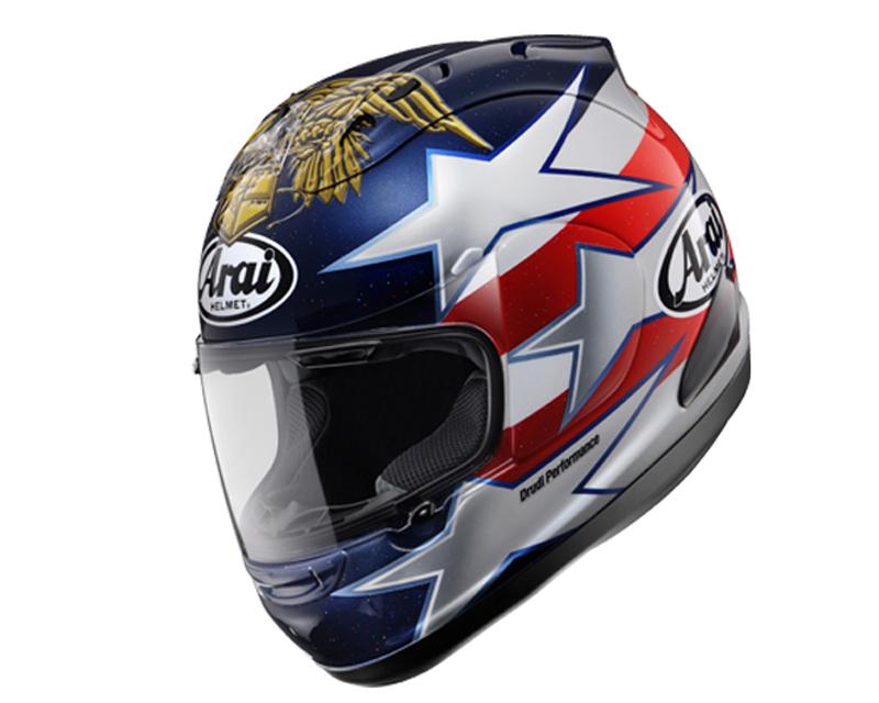 Image of Arai Corsair-V Edwards Patriot Motorcycle Helmet LG
