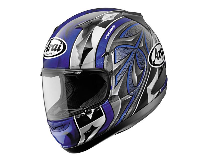 Image of Arai RX-Q Ace Blue Motorcycle Helmet XL